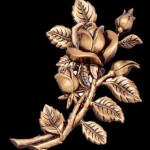 розы из бронзы на памятник