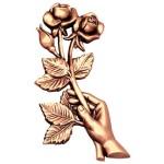 бронзовая фурнитура для памятников №1985 розм:19*10*1,5