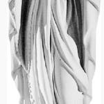 Ритуальна скульптура Марії №2127 розм:106*30*26