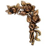 бронзовая фурнитура для памятников №2460 розм:22*16*2