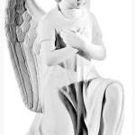Ритуальна скульптура Ангела №387 розм.25,5*12*17,5