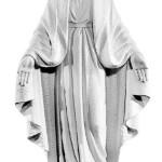 Ритуальна скульптура Марії №435 розм:117*53,5*30