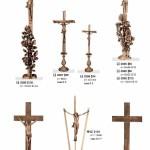 бронзовый крест  с розами