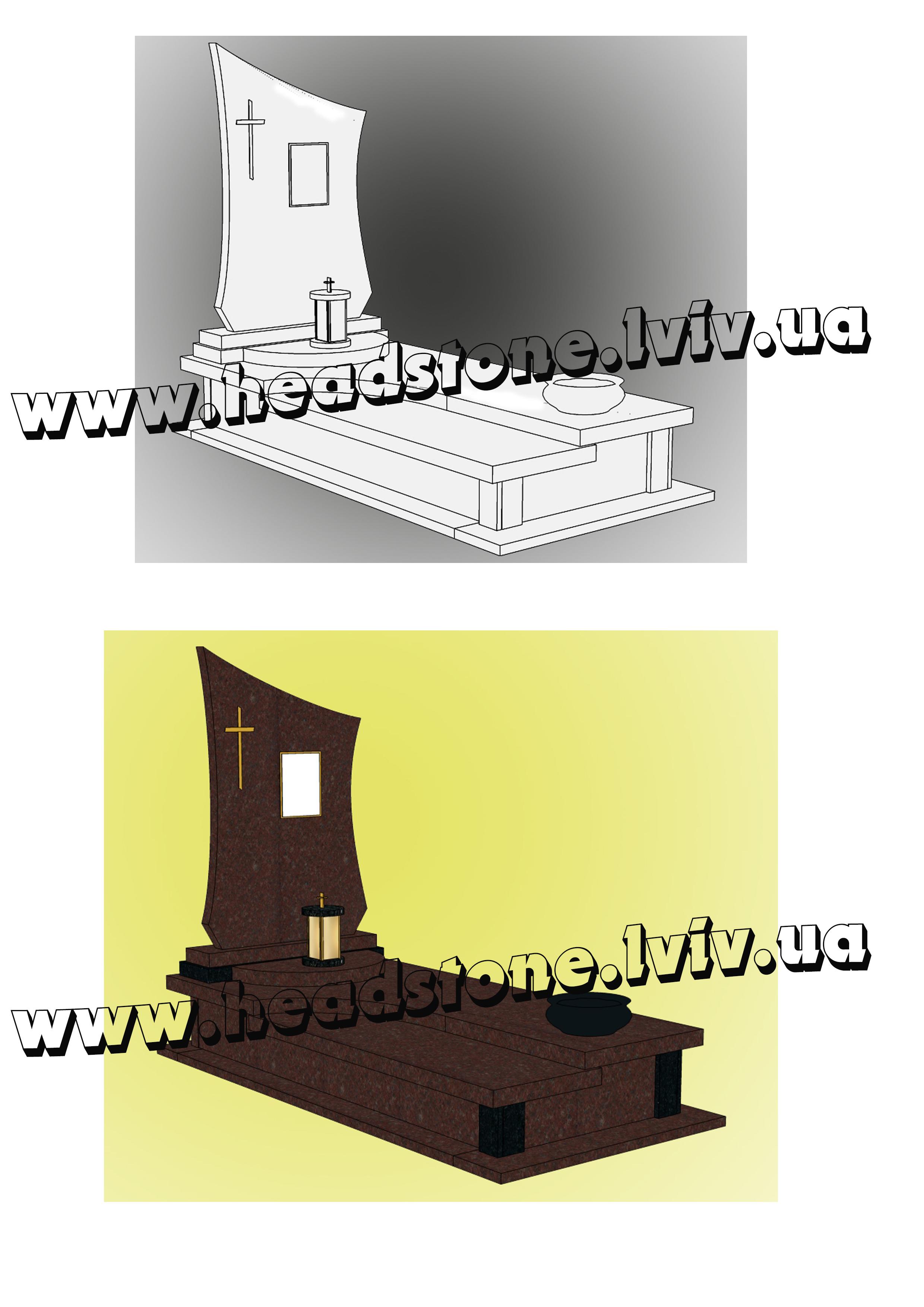 3d проектування памятники одинарні